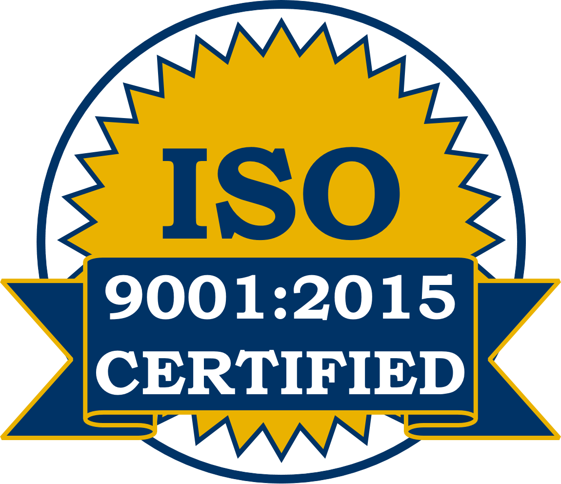 ISO 9001 2015 Certified Stamp